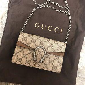 Authentic Gucci Super Mini Dionysus Supreme Bag